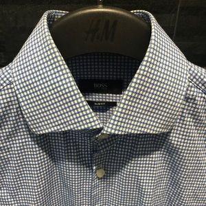 Hugo Boss Slim Fit Button Down Dress Shirt